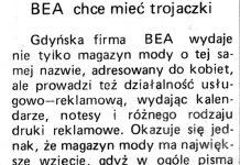 BEA chce mieć trojaczki / (as) // Gazeta Gdyńska. - 1990, nr 3, s. 8