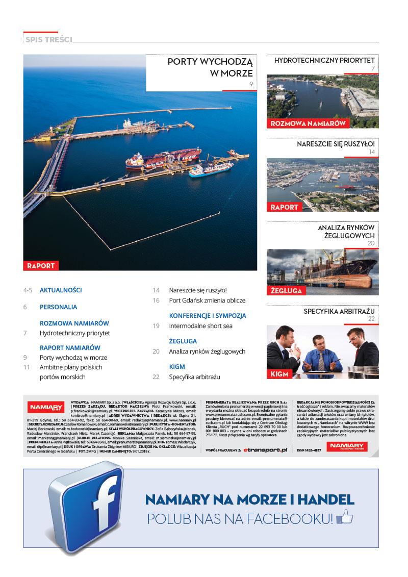 Namiary na morze i handel: dwutygodnik menedżerów transportu, handlu i przemysłu morskiego 2018, nr 2