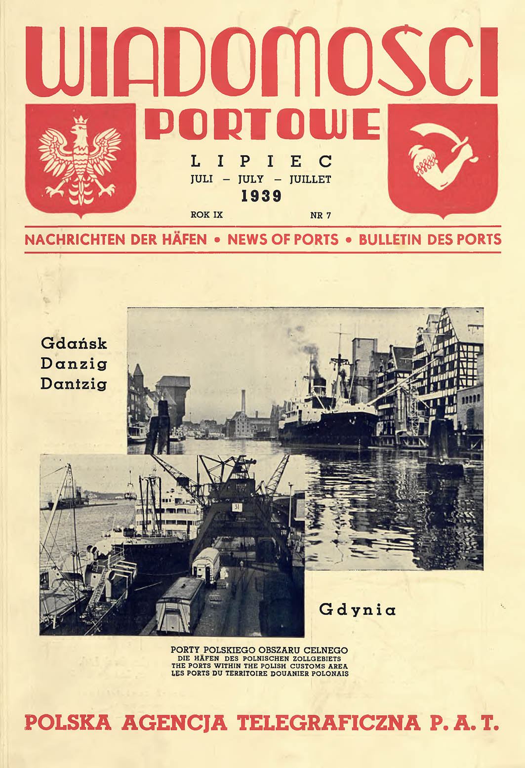 Wiadomości Portowe 1939, nr 3