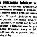 Nocne ćwiczenia lotnicze w Gdyni // Gazeta Gdańska. - 1936, nr 175, s. 5