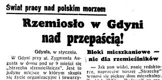 Rzemiosło w Gdyni nad przepaścią