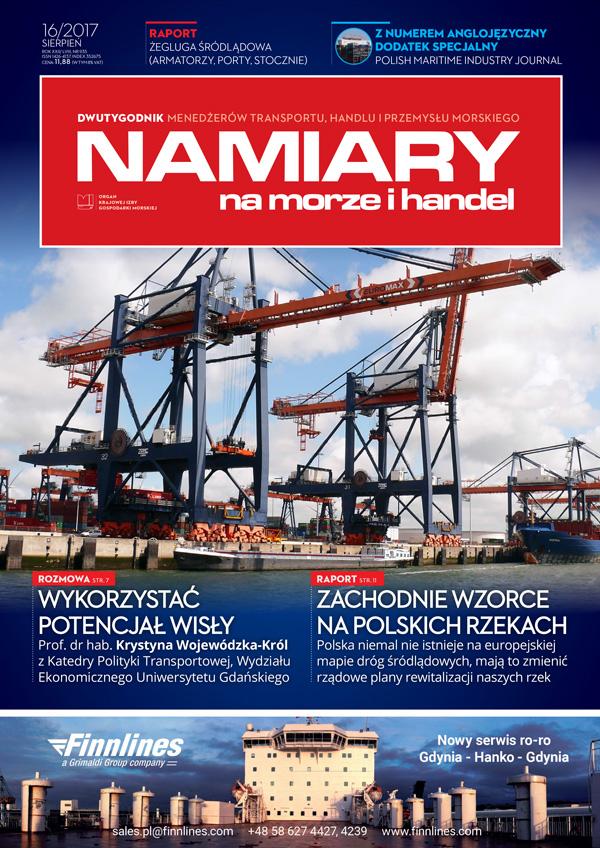 Namiary na morze i handel: dwutygodnik menedżerów transportu, handlu i przemysłu morskiego 2017,  nr 16 (sierpień)