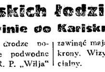 Dywizjon polskich łodzi podwodnych zawinie do Karlskrony / (PAT) // Gazeta Gdańska. - 1934, nr 161, s. 2