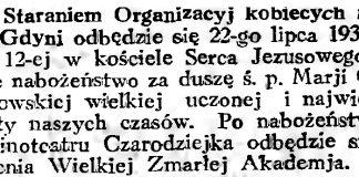 [Staraniem Organizacyj Kobiecych na terenie Gdyni odbędzie się ...] // Gazeta Gdańska. - 1934, nr 161, s. 6