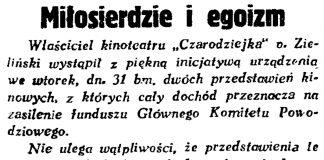 Miłosierdzie i egoizm // Gazeta Gdańska. - 1934, nr 170, s. 7