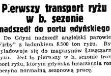 Pierwszy transport ryżu w b. sezonie nadszedł do portu gdyńskiego // Gazeta Gdańska. - 1936, nr 77, s. 7