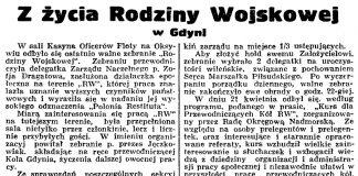 Z życia Rodziny Wojskowej w Gdyni // Gazeta Gdańska. - 1936, nr 98, s. 8