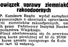Obowiązek uprawy ziemniaków rakopodobnych // Gazeta Gdańska. - 1936, nr 98, s. 8