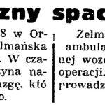 Niebezpieczny spacer po lesie // Gazeta Gdańska. - 1937, nr 153, s. 8