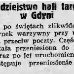 Dobrodziejstwo hali targowej w Gdyni // Gazeta Gdańska. - 19Dobrodziejstwo hali targowej w Gdyni // Gazeta Gdańska. - 1937, nr 298, s. 237, nr 298, s. 2