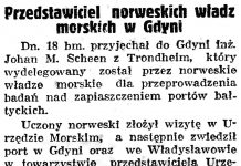 Przedstawiciel norweskich władz morskich w Gdyni // Gazeta Gdańska. - 1938, nr 140, s. 8