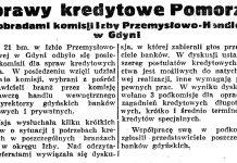 Sprawy kredytowe Pomorza pod obradami komisji Izby Przemysłowo-Handlowej w Gdyni // Gazeta Gdańska. - 1938, nr 143, s. 8