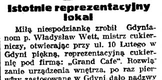 Istotnie reprezentacyjny lokal // Gazeta Gdańska. -1938, nr 24. s. 11