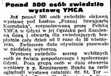 Ponad 500 osób zwiedziło wystawę YMCA // Gazeta Gdańska. - 1938, nr 255, s. 6