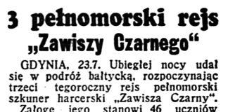 """3 pełnomorski rejs """"Zawiszy Czarnego"""" // Dzień Dobry. - 1939, nr 202, s. 5"""