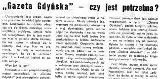 """""""Gazeta Gdyńska"""" - czy jest potrzebna"""