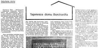 Tajemnice domu Borchardta / Ewa Ostrowska // Gazeta Gdyńska. - 1990, nr 3, s.6, 8. - Il.