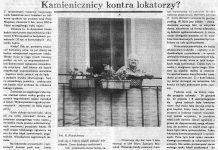 Kamienicznicy kontra lokatorzy? / Barbara Kalita // Gazeta Gdyńska. - 1990, nr 5, s. 5. - Il.