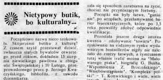Nietypowy butik, bo kulturalny / Alicja Grzybiakówna // Gazeta Gdyńska. - 1990, nr 5, s. 7