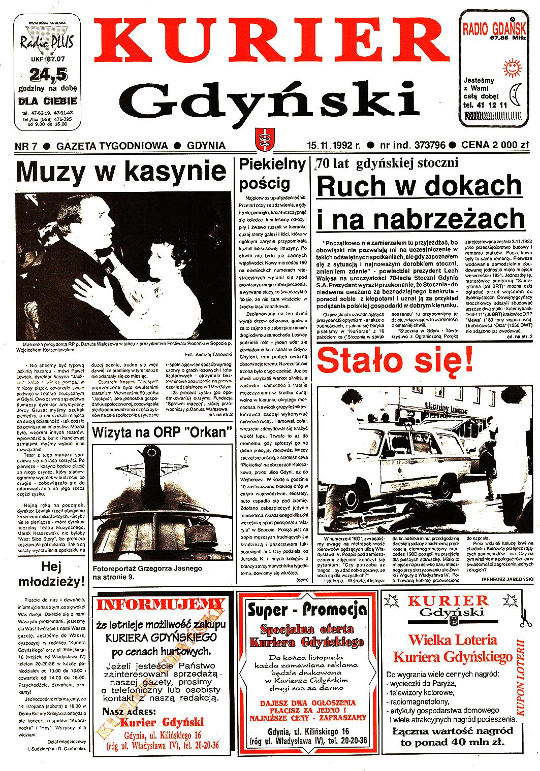 Kurier Gdyński. - 1992, nr 7