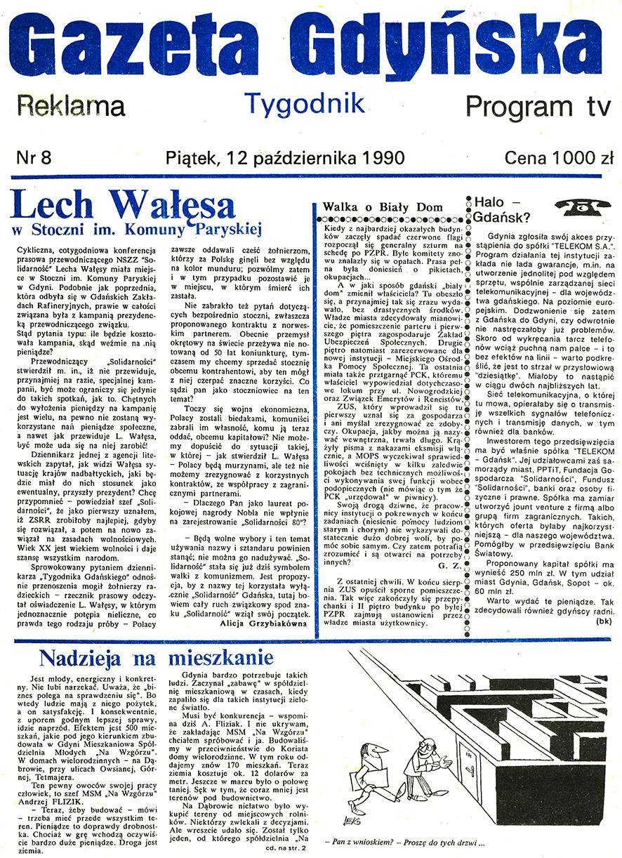 Gazeta Gdyńska. - 1990, nr 8