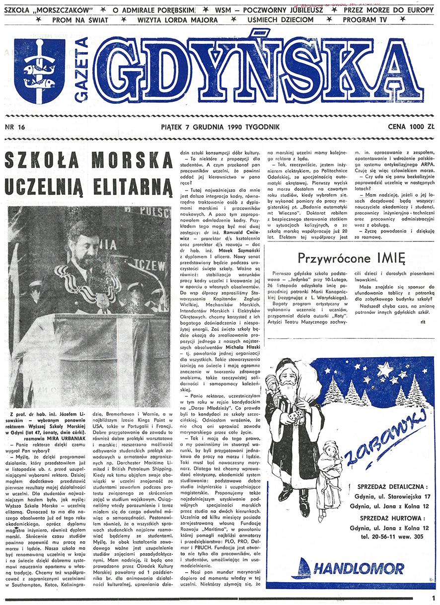 Gazeta Gdyńska. - 1990, nr 16