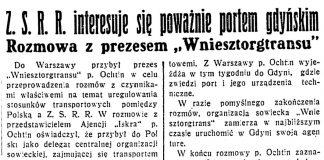 """Z.S.R.R. interesuje się poważnie portem gdyńskim. Rozmowa z prezesem """"Wniesztorgtransu"""" // Dzień Dobry. - 1934, nr 235, s. 6"""