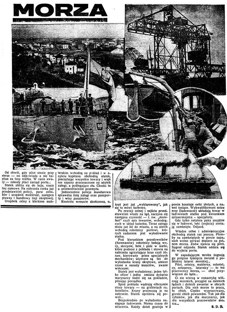 Pracownicy morza // Dzień Dobry. - 1935, nr 178, s. 4