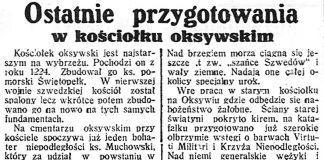 Ostatnie przygotowania w kościółku oksywskim // Dzień Dobry. - 1936, nr 200 s. 2