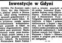 Inwestycje w Gdyni // Trybuna Lubelska. - 1981, nr 230, s. 2