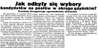Jak odbyły się wybory kandydatów na posłów w okręgu gdańskim? Przebieg okręgowego zgromadzenia elektorów // Gazeta Gdańska. - 1938, nr 236, s. 12