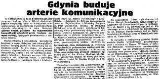 Gdynia buduje arterie komunikacyjne // Gazeta Gdańska. - 1939, nr 37, s. 7