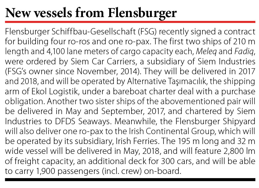 New vessels from Flensburger // Baltic Transport Journal. - 2016, nr 3, s. 10