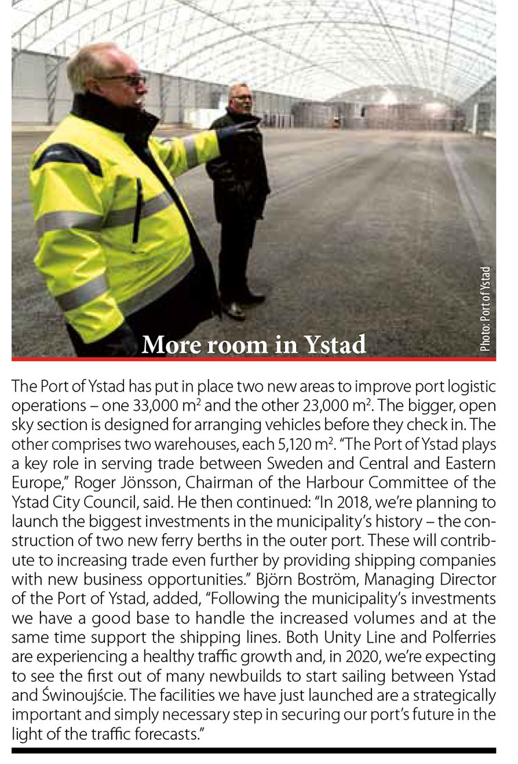 More room in Ystad // Baltic Transport Journal. - 2017, nr 6, s. 9