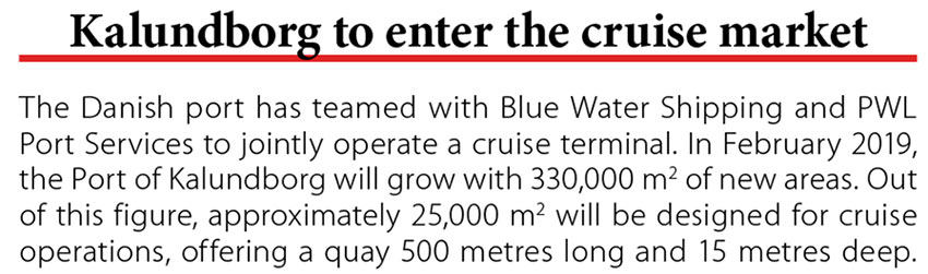 Kalundborg to enter the cruise market // Baltic Transport Journal. - 2017, nr 5, s. 10