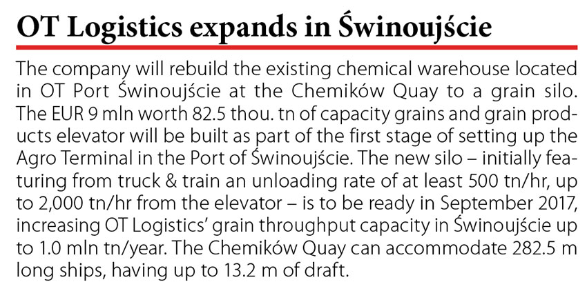 OT Logistics expand in Świnoujście // Baltic Transport Journal. - 2016, nr 3, s. 10. - Il.