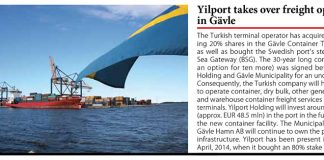 Yilport takes over freight operation in Gavle // Baltic Transport Journal. - 2016, nr 3, s. 10. - Il.