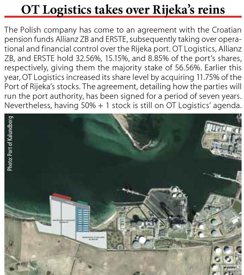 OT Logistics takes over Rijeka's rein // Baltic Transport Journal. - 2017, nr 5, s. 10