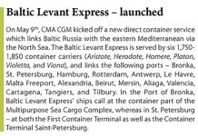 Baltic Levant Express - launched // Baltic Transport Journal. - 2016, nr 3, s. 11