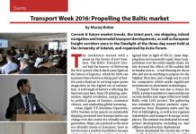 Transport Week 2016: Propelling the Baltic market / Maciej Kniter // Baltic Transport Journal. - 2016, nr 2, s. 58-59. - Il.