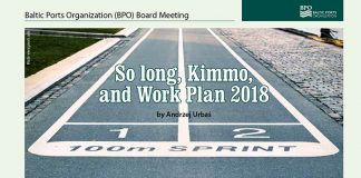 So long Kimmo, and Work Plan 2018. Baltic Ports Organisation (PBO) Board Meeting // Baltic Transport Journal. - 2017, nr 6, s. 43. - Il.
