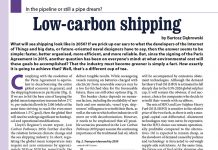 Low-carbon shipping. In the pipeline or still a pipe dream / Bartosz Dąbrowski // Baltic Transport Journal. - 2017, nr 6, s. 54-55. - Wykr.