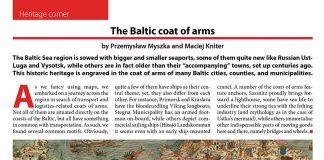 The Baltic coat of arms / Przemysław Myszka // Baltic Transport Journal. - 2016, nr 4, s. 64. - Il.
