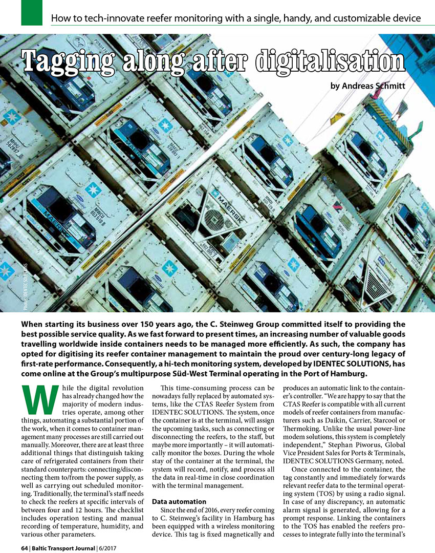 Tagging along after digitalisation / Andreas Schmitt // Baltic Journal. - 2017, nr 6, s. 64-65. - Il.