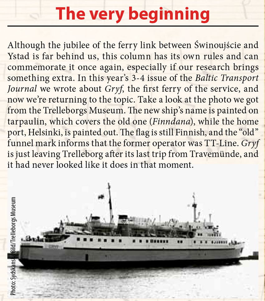 The very beginning // Baltic Transport Journal. - 2017, nr 6, s. 73. - Il.
