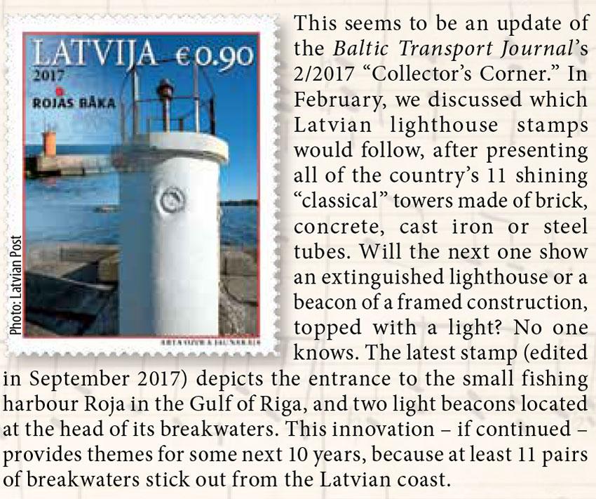 [Latvian coast] // Baltic Transport Journal. - 2017, nr 6, s. 73. - Il.