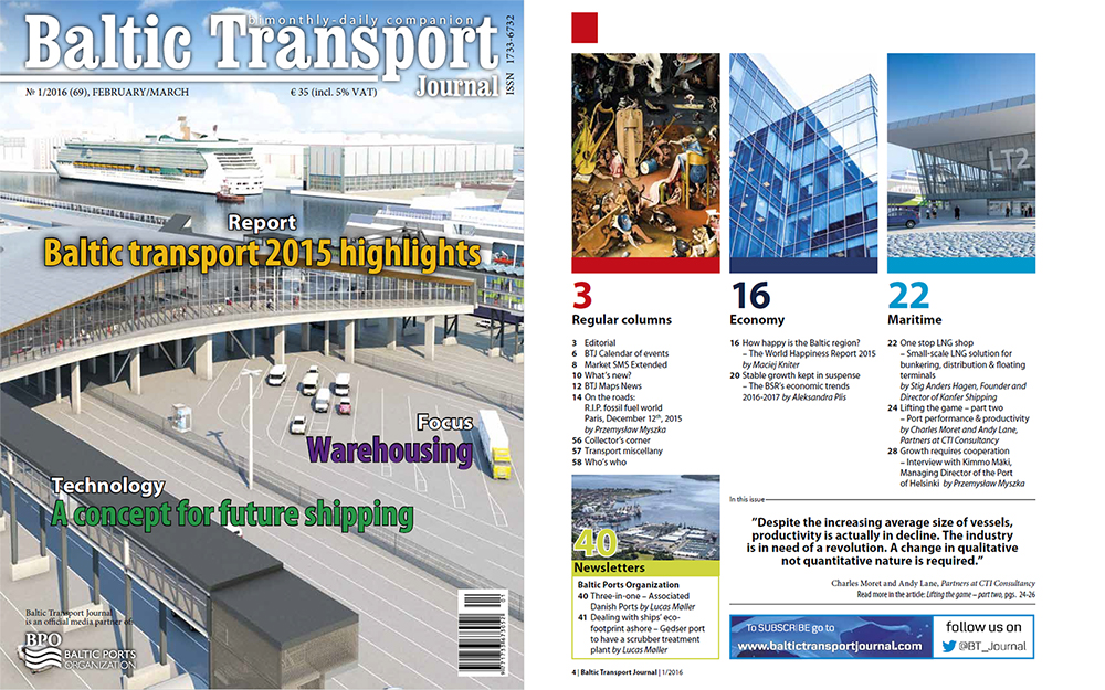 Baltic Transport Journal 2016 nr 1, Rocznikgdyński