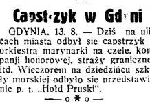 Capstrzyk w Gdyni // Dzień Dobry. - 1932, nr 225, s. 1