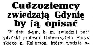 Cudzoziemcy zwiedzają Gdynię by ją opisać // Dzień Dobry. - 1932, nr 220, s. 1