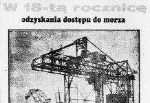 W 18-tą rocznicę odzyskania dostępu do morza // Dzień Dobry. - 1938, nr 41, s. 1. - Il.